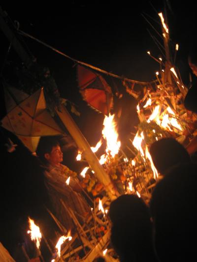 Vang Vieng Festival - Fire Boat