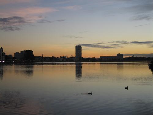 lake meritt sunset